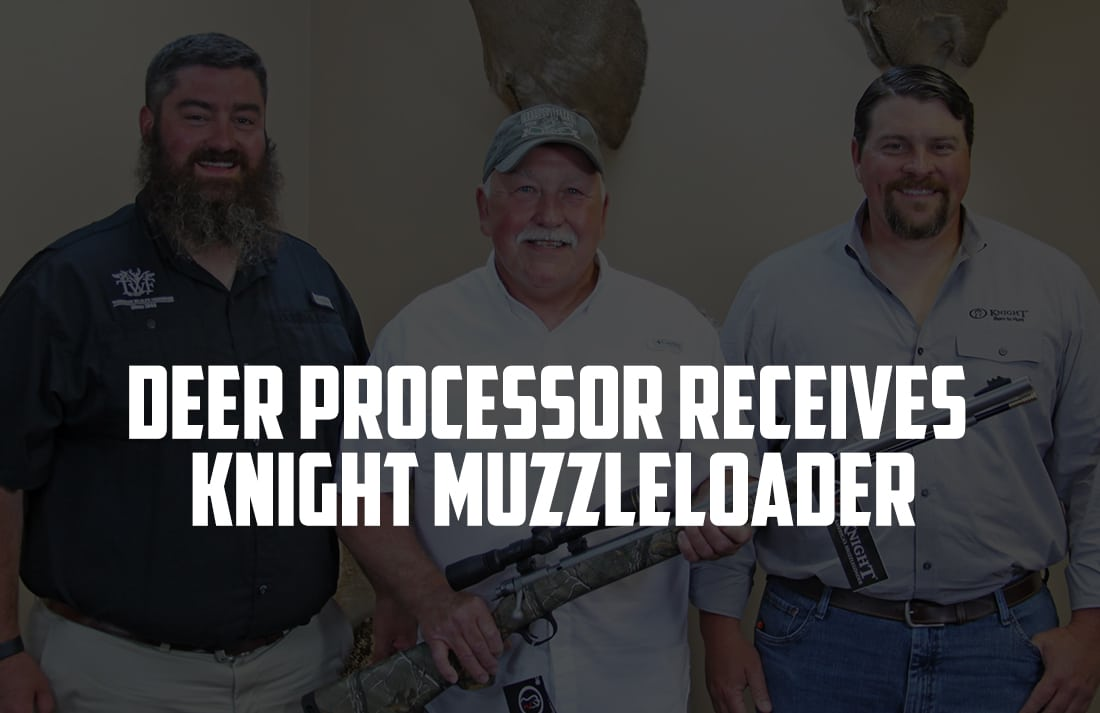 Hunters For The Hungry Deer Processor Receives Knight Muzzleloader