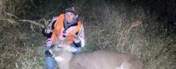"""Third year deer hunting using a 50 caliber pink little horn."" Keli Handley Lindeman, Iowa"