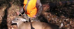 Archer shot this 4 point buck with a 50 caliber Knight Wolverine, at Fort Campbell's Youth Hunt on 11/9/2014.