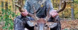 Shot at 30 yards with knight muzzleloader i love it shot another big buck last year with it