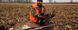 "150"" Ohio Buck , one shot with the Knight long range hunter @270 yards!"