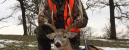 Buck taken on December 28, 2016, during Iowa's late muzzleloader season with my Knight Revolution.