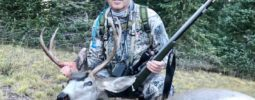 """I anchored a nice 3x3 mulie with 21"""" spread in Utah with my brand new UL! Thanks for working with me on my order. I used 110 gr (wt) behind a 300 gr Scorpion. Shot him through the head at 165 yds!"""