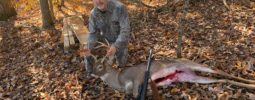 The buck passed within 30 yards of my stand in a dense fog at first light ! I was able to get the shot off and the buck piled up 20 yards from where he was shot !  I have all the confidence that I will ever need when I shoulder my Knight Rifle ! Thanks For another great harvest ! James Mullins